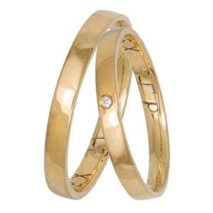 Χρυσές ανατομικές βέρες γάμου Κ14 034114 034114 Χρυσός 14 Καράτια μεμονωμένο τεμάχιο