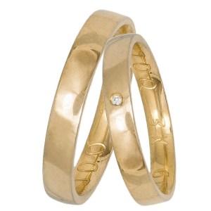 Χρυσές πομπέ βέρες Κ14 με ανατομία 034344 034344 Χρυσός 14 Καράτια μεμονωμένο τεμάχιο