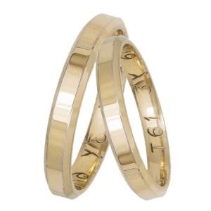 Βέρες γάμου- αρραβώνα χρυσές ανατομικές Κ14 034391 034391 Χρυσός 14 Καράτια μεμονωμένο τεμάχιο