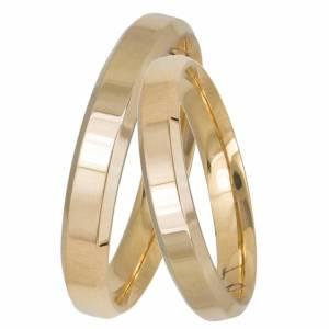 Χρυσές βέρες γάμου Κ14 ανατομικές 034392 034392 Χρυσός 14 Καράτια μεμονωμένο τεμάχιο