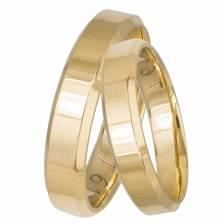Ανατομικές χρυσές βέρες γάμου- αρραβώνα Κ14 034393 034393 Χρυσός 14 Καράτια μεμονωμένο τεμάχιο