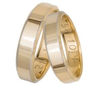 Ανατομικές χρυσές βέρες γάμου Κ14 034395 034395 Χρυσός 14 Καράτια μεμονωμένο τεμάχιο