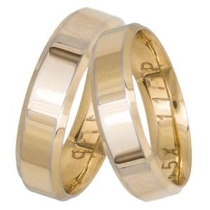 Χρυσές ανατομικές βέρες Κ14 034396 034396 Χρυσός 14 Καράτια μεμονωμένο τεμάχιο