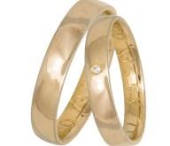 Χρυσές βέρες γάμου Κ14 πομπέ 035245 035245 Χρυσός 14 Καράτια μεμονωμένο τεμάχιο
