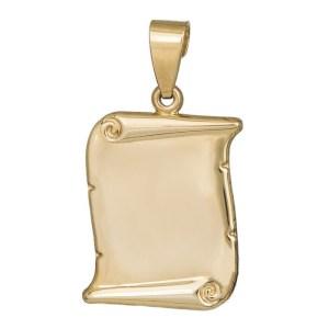 Χρυσό φυλαχτό Κωνσταντινάτο σε παπυράκι Κ9 διπλής όψης 035623 035623 Χρυσός 9 Καράτια