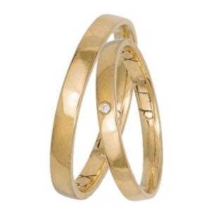 Χρυσές ανατομικές βέρες γάμου 14 καρατίων 035852 035852 Χρυσός 14 Καράτια μεμονωμένο τεμάχιο
