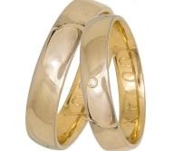 Κλασικές ανατομικές χρυσές βέρες Κ14 035853 035853 Χρυσός 14 Καράτια μεμονωμένο τεμάχιο