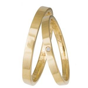 Ανατομικές βέρες από χρυσό 14 καρατίων 035855 035855 Χρυσός 14 Καράτια μεμονωμένο τεμάχιο