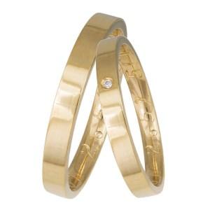 Χειροποίητες ανατομικές βέρες σε χρυσό Κ14 035856 035856 Χρυσός 14 Καράτια μεμονωμένο τεμάχιο