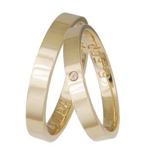 Βέρες γάμου από χρυσό Κ14 ανατομικές 035857 035857 Χρυσός 14 Καράτια μεμονωμένο τεμάχιο