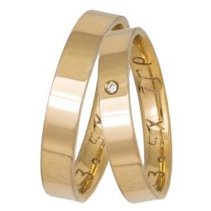Ανατομικές χρυσές βέρες γάμου 14 καρατίων 035858 035858 Χρυσός 14 Καράτια μεμονωμένο τεμάχιο