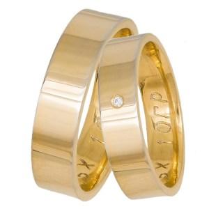 Χρυσές ανατομικές βέρες αρραβώνα Κ14 035861 035861 Χρυσός 14 Καράτια μεμονωμένο τεμάχιο