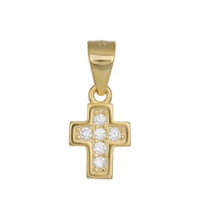 Κρεμαστό σταυρουδάκι από επιχρυσωμένο ασήμι 925 036218 036218 Ασήμι