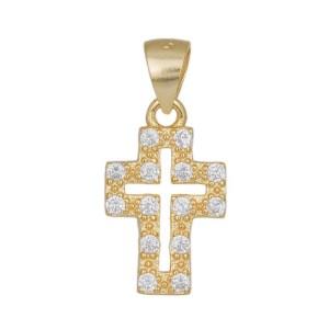 Γυναικείος επίχρυσος σταυρός 925 036289 036289 Ασήμι