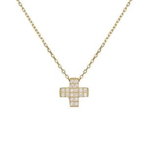 Ασημένιο κολιέ 925 με πετράτο σταυρουδάκι 036315 036315 Ασήμι