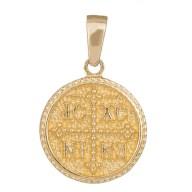 Κωνσταντινάτο διπλής όψης σε χρυσό Κ14 036358 036358 Χρυσός 14 Καράτια