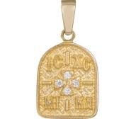 Κρεμαστό φυλαχτό με λευκά ζιργκόν Κ14 036368 036368 Χρυσός 14 Καράτια