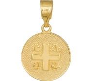 Χρυσό φυλαχτό Κ14 με λουστρέ σταυρουδάκι 036466 036466 Χρυσός 14 Καράτια