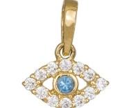 Χρυσό κρεμαστό ματάκι με ζιργκόν Κ14 036572 036572 Χρυσός 14 Καράτια