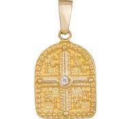 Φυλαχτό Κωνσταντινάτο σε χρυσό Κ14 036577 036577 Χρυσός 14 Καράτια