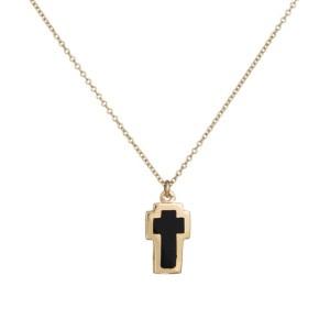 Χρυσό κολιέ σταυρός διπλής όψης Κ9 036639 036639 Χρυσός 9 Καράτια