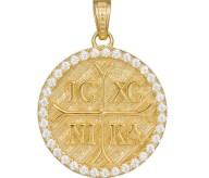Κωνσταντινάτο διπλής όψης Κ14 037233 037233 Χρυσός 14 Καράτια