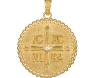 Χρυσό φυλαχτό Κ14 διπλής όψεως 037271 037271 Χρυσός 14 Καράτια