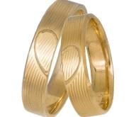 Χρυσές βέρες 14Κ με σχέδιο καρδιά 037325 037325 Χρυσός 14 Καράτια μεμονωμένο τεμάχιο
