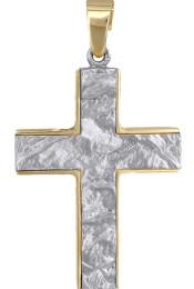 Σταυροί Βάπτισης - Αρραβώνα ΔΙΧΡΩΜΟΣ ΑΝΑΓΛΥΦΟΣ ΑΝΤΡΙΚΟΣ ΣΤΑΥΡΟΣ 014834 014834 Ανδρικό Χρυσός 9 Καράτια