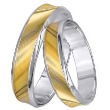 Δίχρωμες βέρες γάμου Κ14 026265 026265 Χρυσός 14 Καράτια