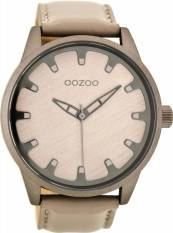 Αντρικό ρολόι OOZOO Τimepieces Beige Leather Strap C8546 C8546 2018