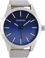 Αντρικό ρολόι OOZOO Grey Leather strap C8555 C8555 2018