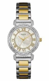 Δίχρωμο ρολόι Guess με μπρασελέ και πέτρες W0831L3 W0831L3 Ατσάλι