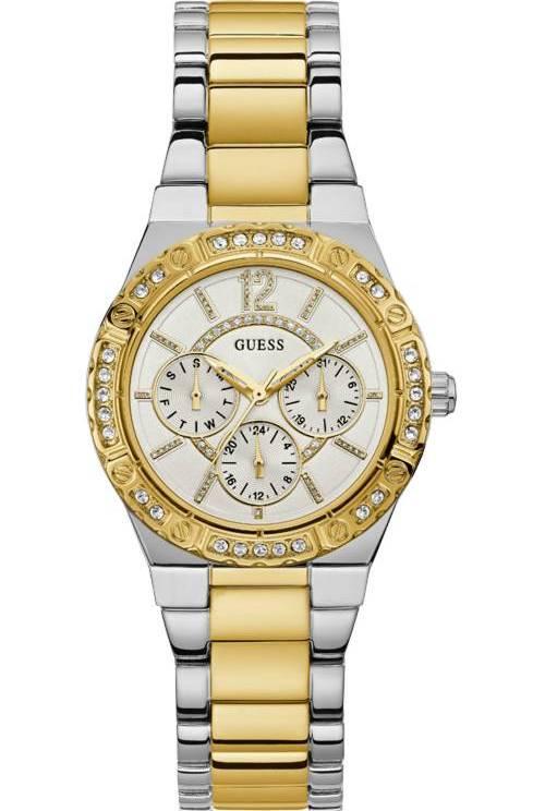 Δίχρωμο ρολόι Guess Multi-Function με πέτρες W0845L5 W0845L5 Ατσάλι