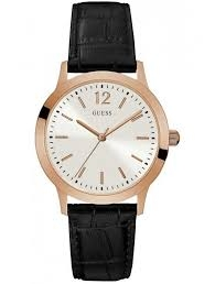 Guess ρολόι rose gold με δερμάτινο λουράκι W0922G6 W0922G6 Ατσάλι