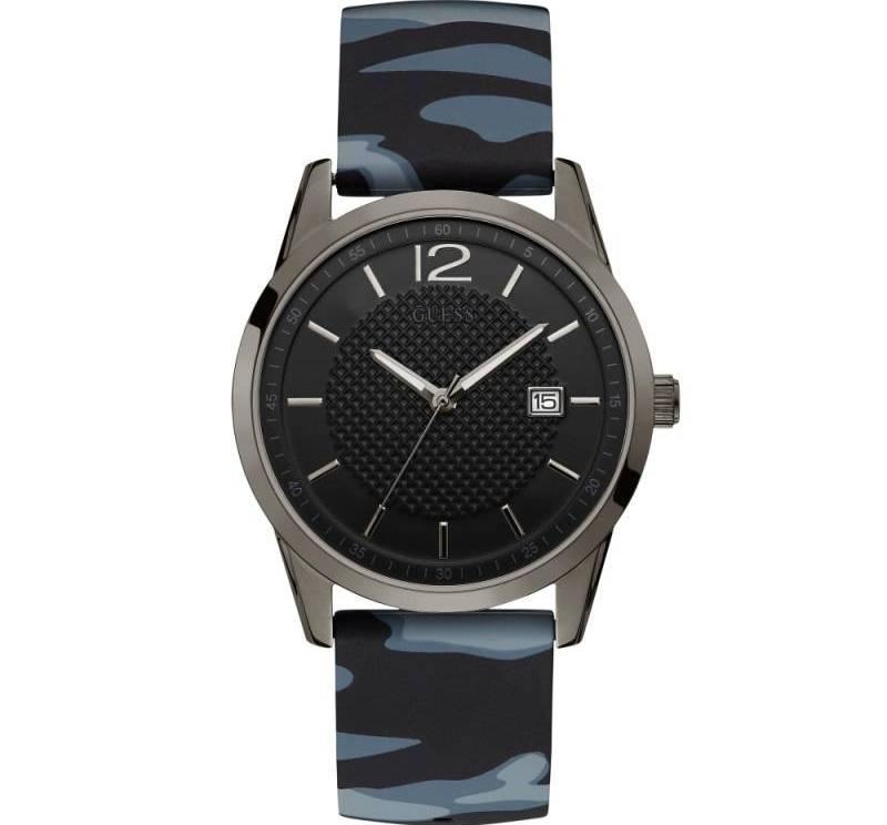 Ανδρικό μαύρο ρολόι Guess Military W0991G6 W0991G6 Ατσάλι