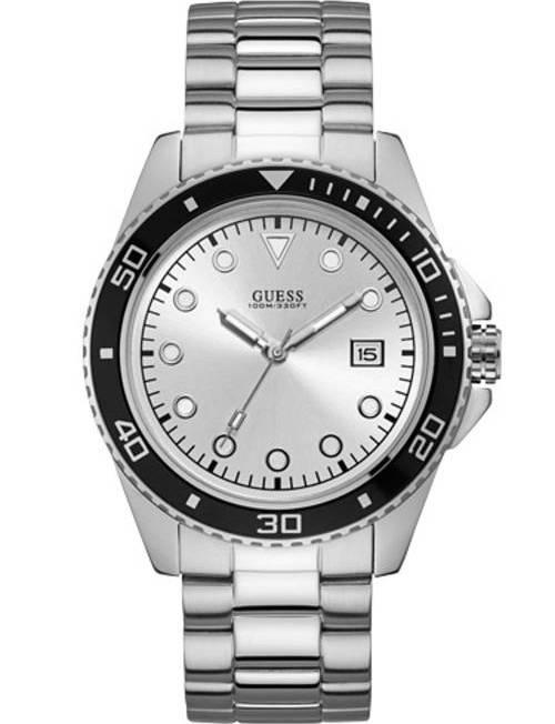 Ανδρικό ρολόι Guess Quartz με μπρασελέ W1002G3 W1002G3 Ατσάλι