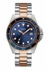 Ανδρικό δίχρωμο ρολόι Guess με μπλε καντράν W1002G5 W1002G5 Ατσάλι