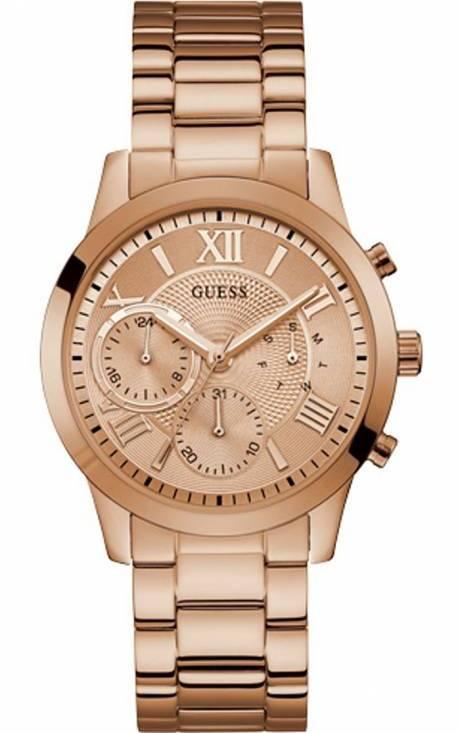 Rose Gold Guess ρολόι με χρονογράφους W1070L3 W1070L3 Ατσάλι