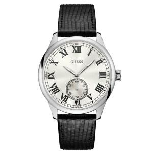 Ρολόι ανδρικό Guess Quartz με δερμάτινο λουράκι W1075G1 W1075G1 Ατσάλι