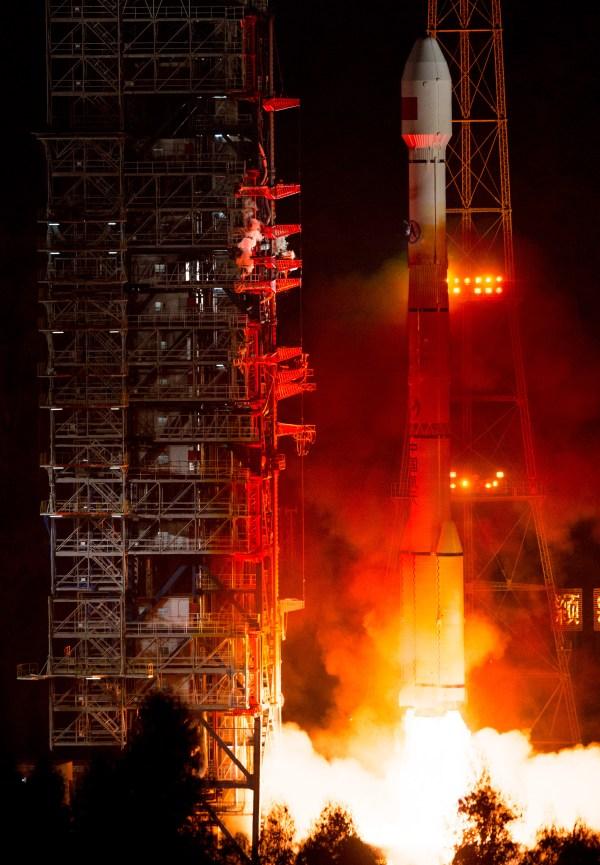 Start rakety CZ-3C se satelitem Beidou