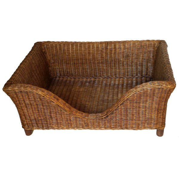 Brown Rectangular Dog Bed