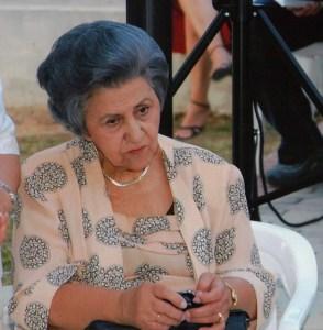 Η Νίκη Τρυπιά στην εκδήλωση μνήμης για τον πατέρα της Νίκο Τρυπιά στο ΠΠΙΕΔ, 21.06.2006