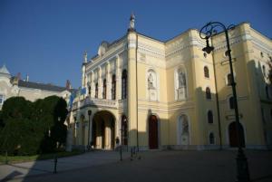 Εξωτερική όψη του θεάτρου Τσόκοναϊ στο Ντέμπρετσεν της Ουγγαρίας
