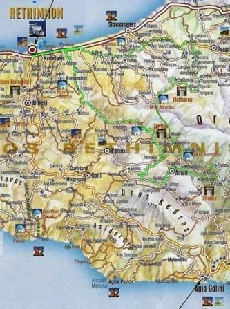 Routes in Rethymnon,Crete
