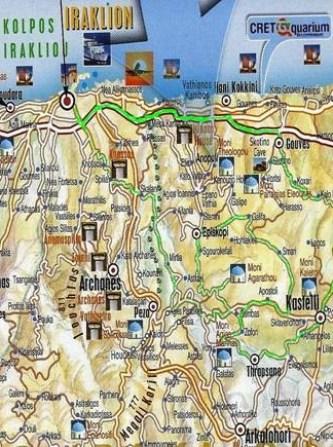 Routes in Heraklion,Crete