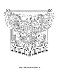 Ausmalbild Adler Schaut Sich Um
