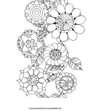 Blumen Borde - Erwachsene ausmalen | Malvorlagen Vorlagen