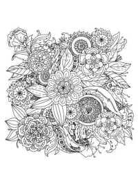 Ausmalbilder Senioren Blumen Ausmalbcher Fr Erwachsene 3 Gratis