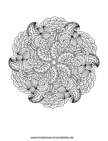 Ausmalbilder  Malvorlagen Blumenmandala fr Erwachsene